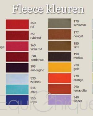 Fleece deken kleuren